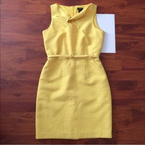 Ann Taylor Yellow Knot Keyhole Sheath Dress